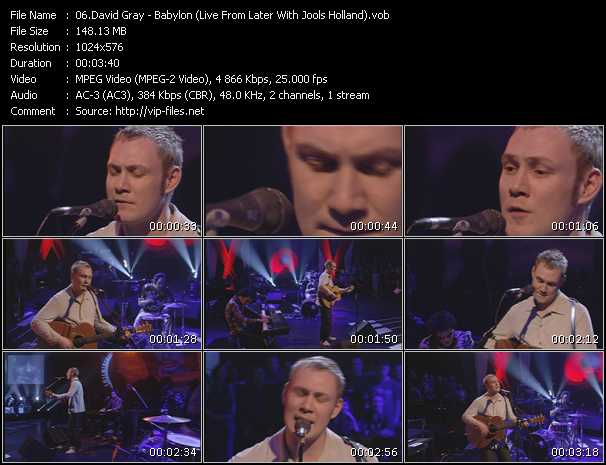 David Gray - Babylon (Live From Later With Jools Holland)
