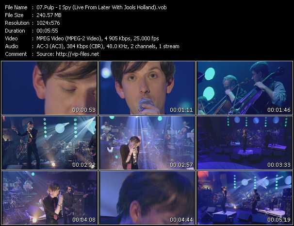 Pulp - I Spy (Live From Later With Jools Holland)
