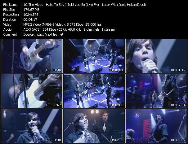 Hives - Hate To Say I Told You So (Live From Later With Jools Holland)
