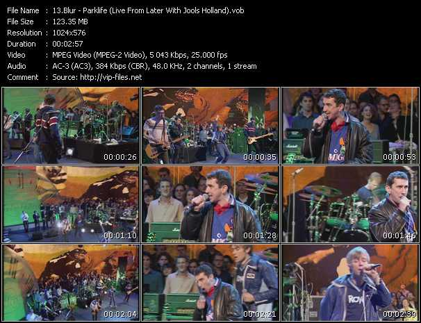 Blur - Parklife (Live From Later With Jools Holland)