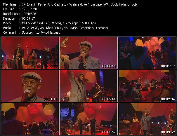 Ibrahim Ferrer And Cachaito - Wahira (Live From Later With Jools Holland)