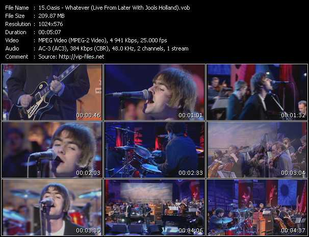 Oasis - Whatever (Live From Later With Jools Holland)