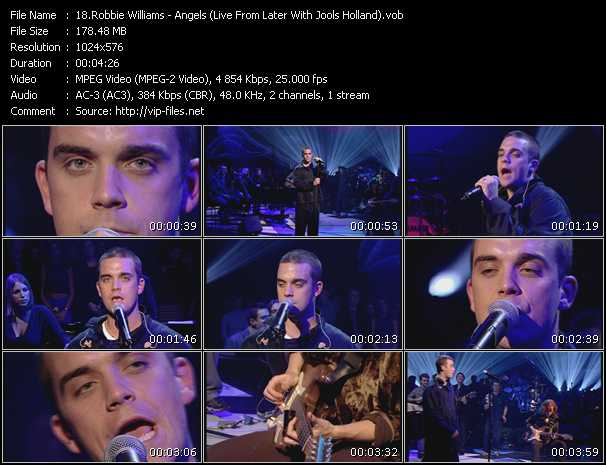 Robbie Williams - Angels (Live From Later With Jools Holland)
