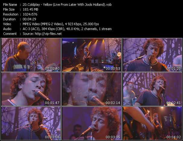Coldplay - Yellow (Live From Later With Jools Holland)
