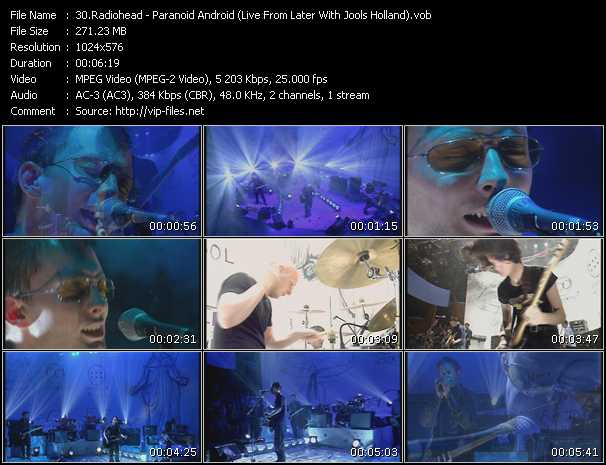 Radiohead - Paranoid Android (Live From Later With Jools Holland)
