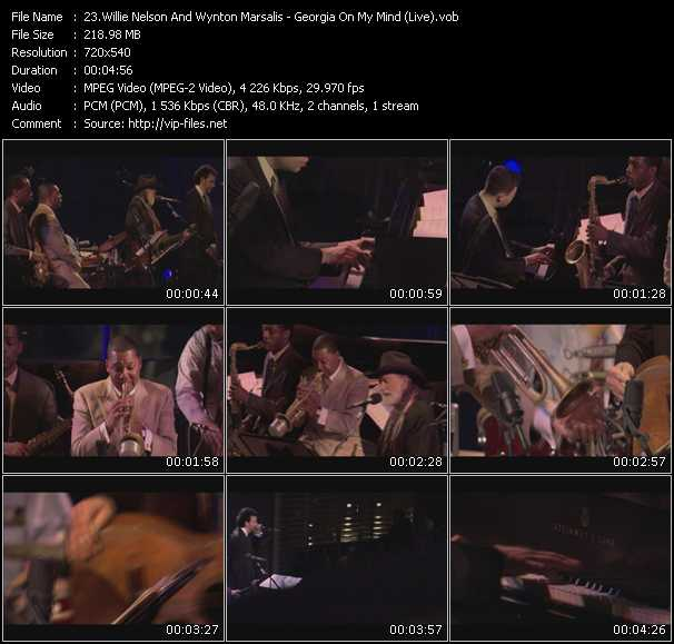 Willie Nelson And Wynton Marsalis - Georgia On My Mind (Live)