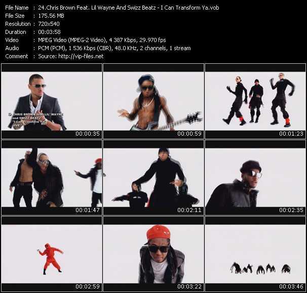 Chris Brown Feat. Lil' Wayne And Swizz Beatz - I Can Transform Ya