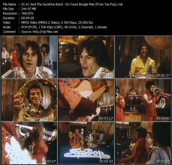 Kc And The Sunshine Band - I'm Your Boogie Man (From Top Pop)