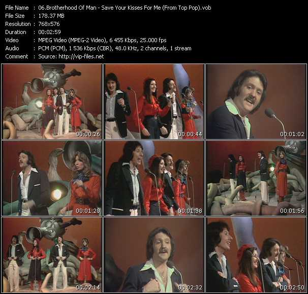 Brotherhood Of Man - Save Your Kisses For Me (From Top Pop)