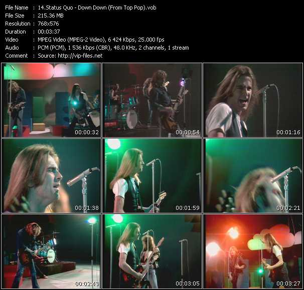 Status Quo - Down Down (From Top Pop)