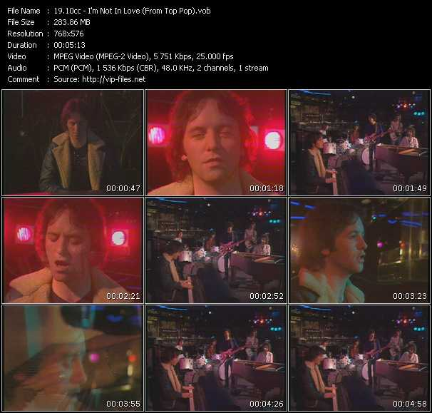 10cc - I'm Not In Love (From Top Pop)