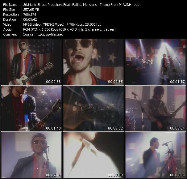 Manic Street Preachers Feat. Fatima Mansions - Theme From M.A.S.H.