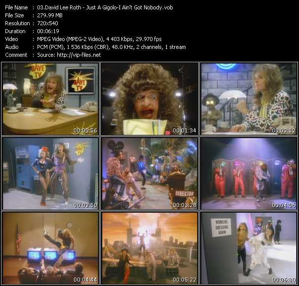 David Lee Roth - Just A Gigolo - I Ain't Got Nobody