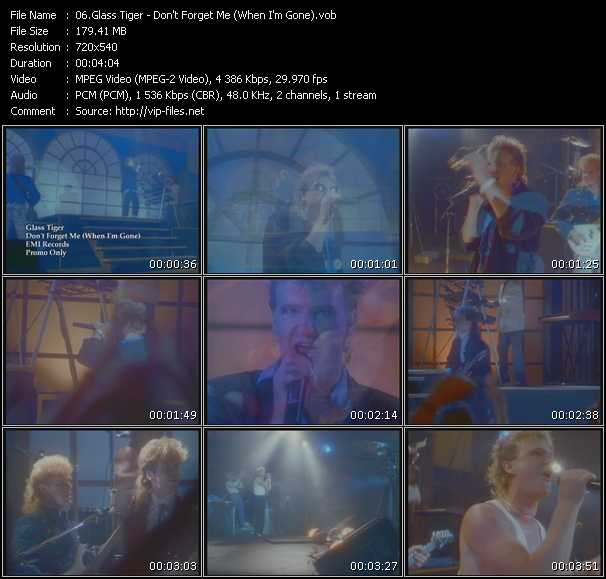 Glass Tiger - Don't Forget Me (When I'm Gone)