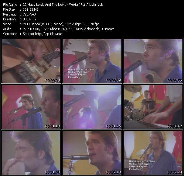 Huey Lewis And The News - Workin' For A Livin'