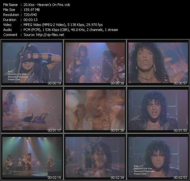 Kiss - Heaven's On Fire