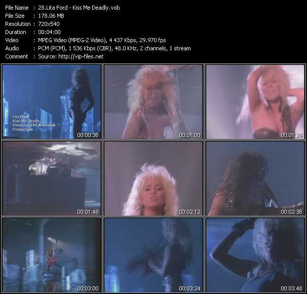 Lita Ford - Kiss Me Deadly