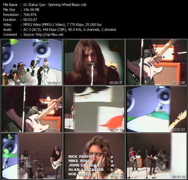 Status Quo - Spinning Wheel Blues (From Musikladen)