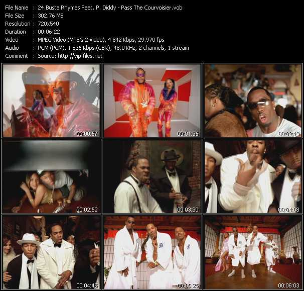 Busta Rhymes Feat. P. Diddy (Puff Daddy) And Pharrell Williams - Pass The Courvoisier