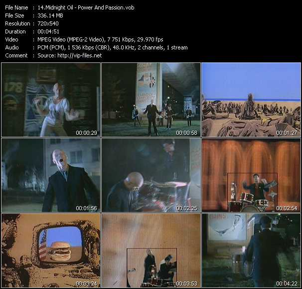 Midnight Oil - Power And Passion